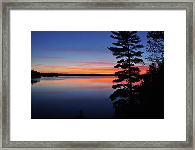 Cottage Sunset Framed Print