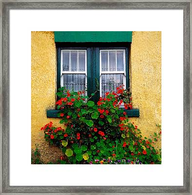 Cottage Window, Co Antrim, Ireland Framed Print