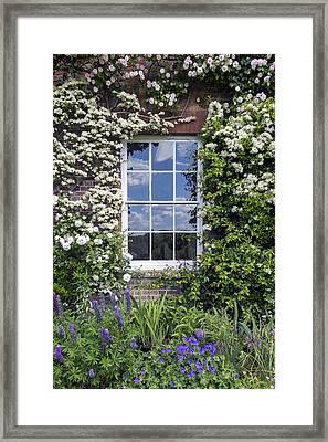 Cottage Window Framed Print