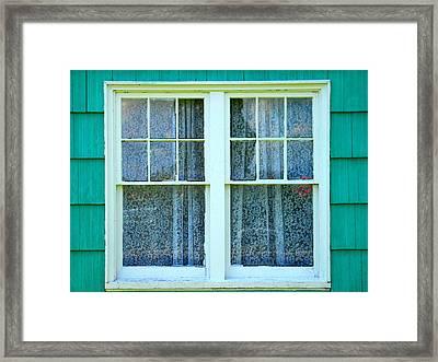 Cottage Windows Framed Print by Mg Blackstock