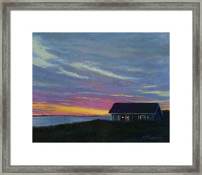 Cottage With A View Framed Print by Phyllis Tarlow