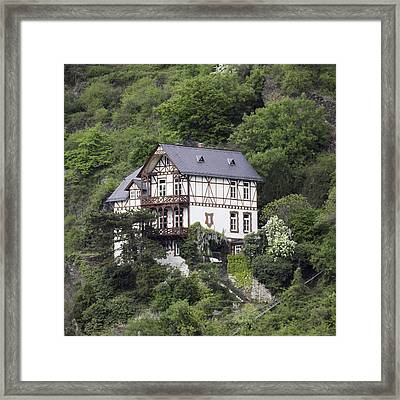 Cottage With A View Framed Print