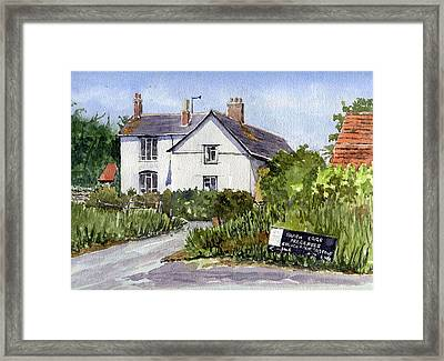 Cottages At Binsey. Nr Oxford Framed Print by Mike Lester