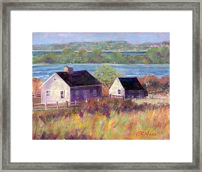 Cottages By The Bay Framed Print