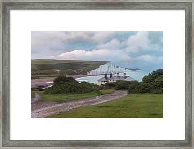 cottages Seven Sisters - England Framed Print