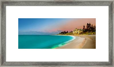 Cottesloe Beach Sunset Framed Print by Az Jackson