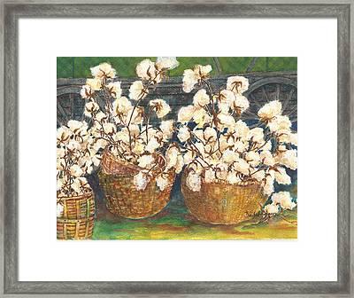 Cotton Basket Framed Print