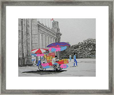 Cotton Candy At The Cne Framed Print