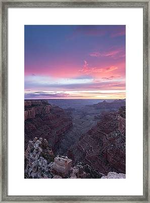 Cotton Candy Canyon Framed Print