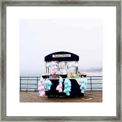 Cotton Candy Carousel- By Linda Woods Framed Print