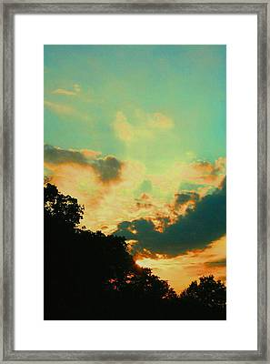 Cotton Candy Catastrophe Framed Print