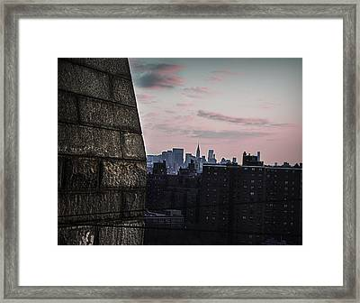 Cotton Candy City Framed Print
