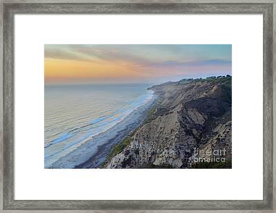 Cotton Candy Cliffs Framed Print