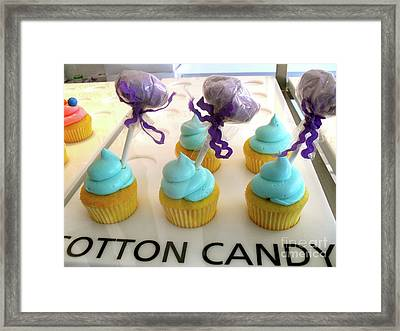 Framed Print featuring the photograph Cotton Candy Cupcakes by Beth Saffer