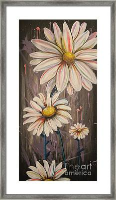 Cotton Candy Daisies Framed Print