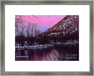 Cotton Candy On The Kittatinny Framed Print