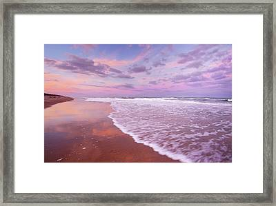 Cotton Candy Sunset. Framed Print