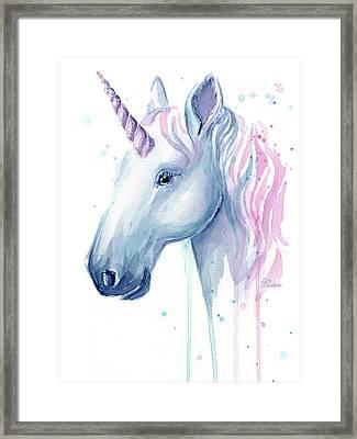 Cotton Candy Unicorn Framed Print