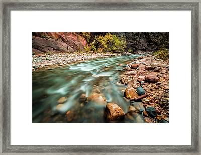Cotton Colors Framed Print