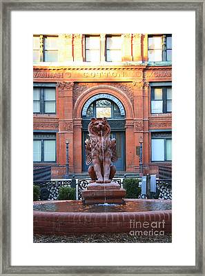 Cotton Exchange Building In Savannah  Framed Print by Carol Groenen