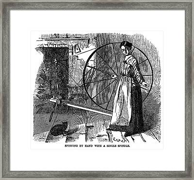 Cotton: Hand-spinning Framed Print by Granger