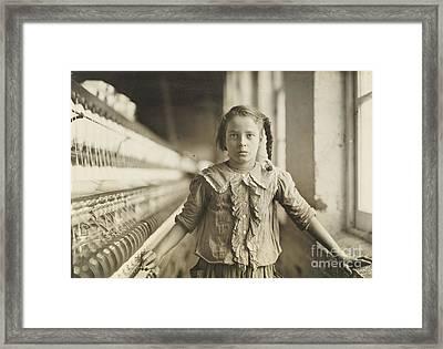 Cotton-mill Worker Framed Print