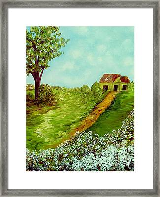 Cotton On A Cloudy Day Framed Print
