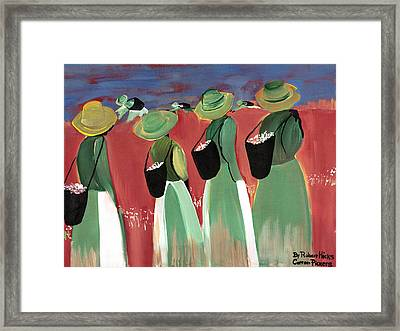 Cotton Pickers Framed Print by Robert Lee Hicks