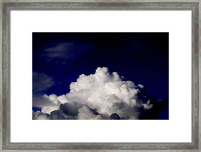 Cotton Sky Framed Print by Kathy Daxon