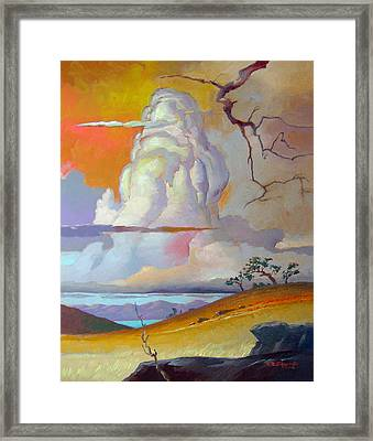 Cottonwood Clouds 3 Framed Print