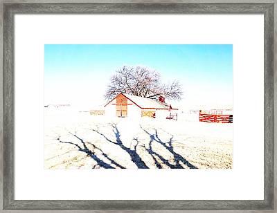 Cottonwood Ranch, Kansas Framed Print