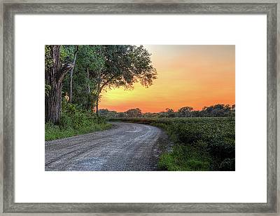Cottonwood Sunset Framed Print by JC Findley