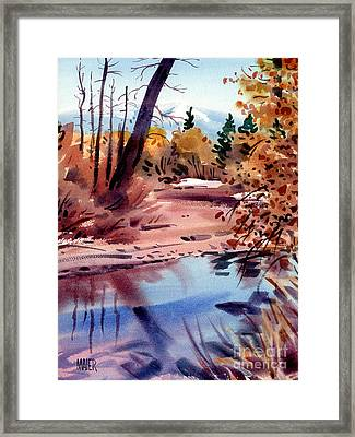 Cottonwoods In October Framed Print by Donald Maier