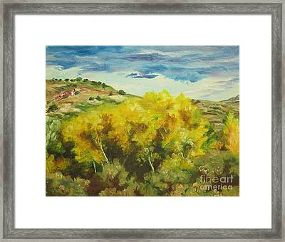 Cottonwoods Framed Print by Theresa Higby