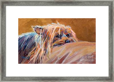 Couch Potato Framed Print by Kimberly Santini