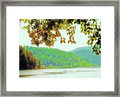 Couer D' Alene Lake 1 Framed Print by Steve Ohlsen