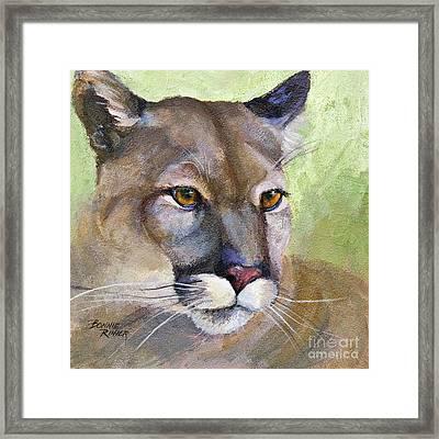 Cougar 2 Framed Print by Bonnie Rinier