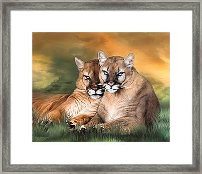 Cougar - Spirit Warrior Framed Print