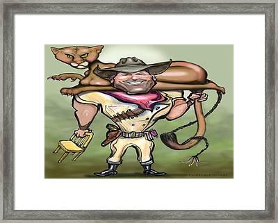 Cougar Trainer Framed Print by Kevin Middleton