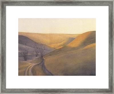 Coulee Sunset Framed Print