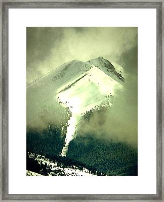 Framed Print featuring the photograph Coulier Through The Veil Spring Storm Over Lemhi Range Idaho by Anastasia Savage Ealy