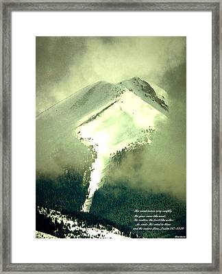 Framed Print featuring the photograph Coulier Through The Veil With Inspirational Verse by Anastasia Savage Ealy