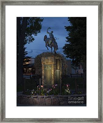 Coulter Memorial, Jackson, Wyoming Framed Print by Greg Kopriva