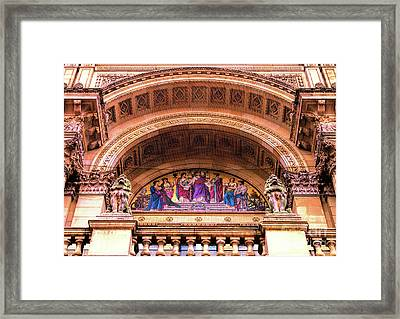 Framed Print featuring the photograph Council House Dome Entrance In Sunshine by Baggieoldboy