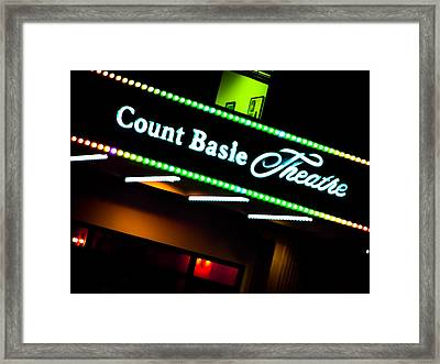 Count Basie Theatre Lights In Color Framed Print