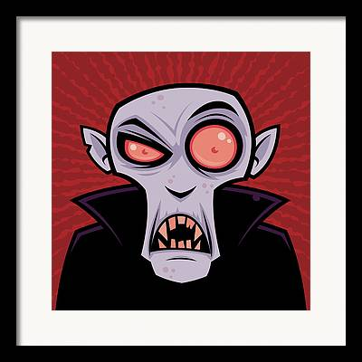 Count Dracula Framed Prints