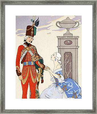 Count On My Oaths Framed Print by Georges Barbier