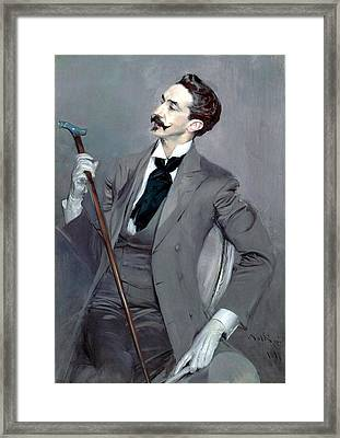 Count Robert De Montesquiou Framed Print