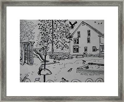 Count The Fifteen Birds Framed Print