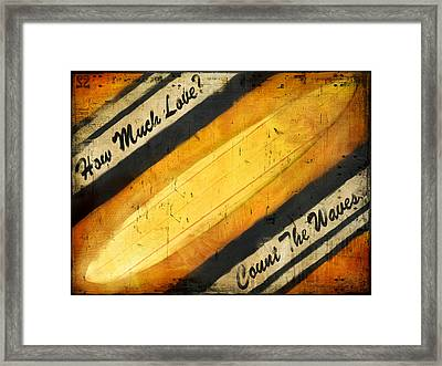 Count The Waves Framed Print by Joel Payne